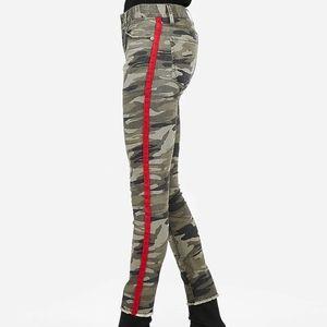 Express 00L Mid Rise Camo Side Stripe Ankle Jean